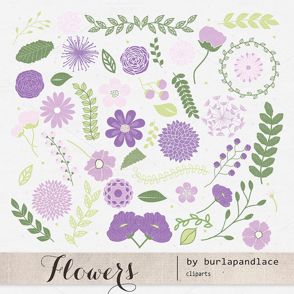 Purple-lavender Flower Clipart