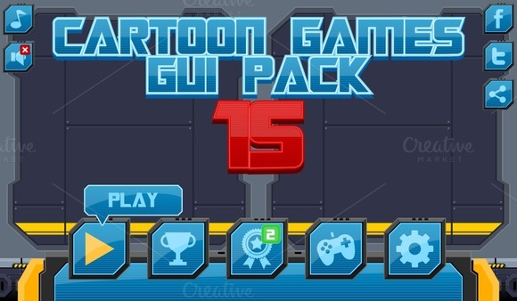 Cartoon Games GUI Pack 15