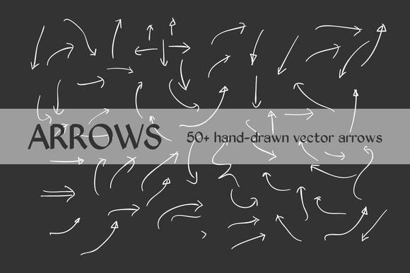 50 Hand Drawn Vector Arrows