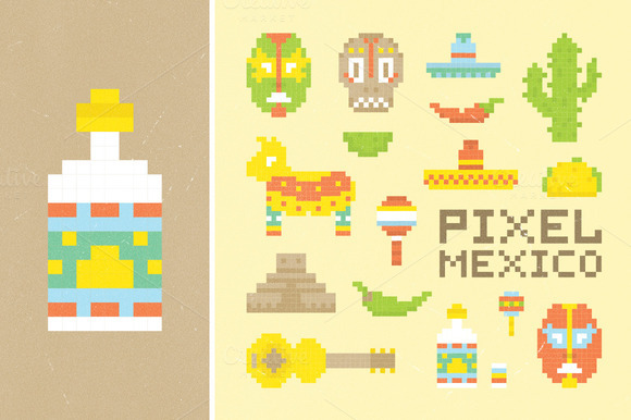 Pixel Mexican Set