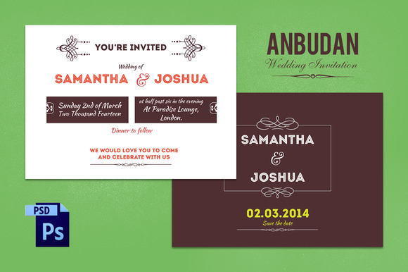 Anbudan Wedding Invitation Template
