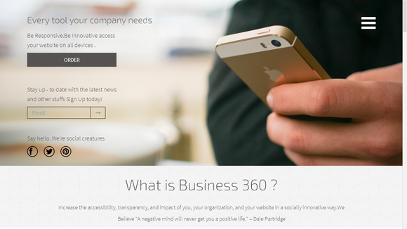 B-360Ўг Responsive Business Template