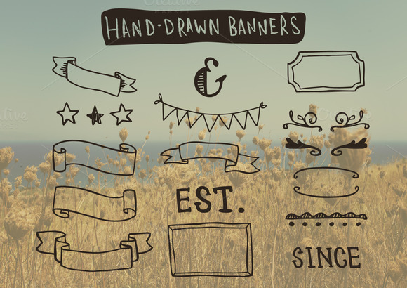 Hand-Drawn Banners And Frames