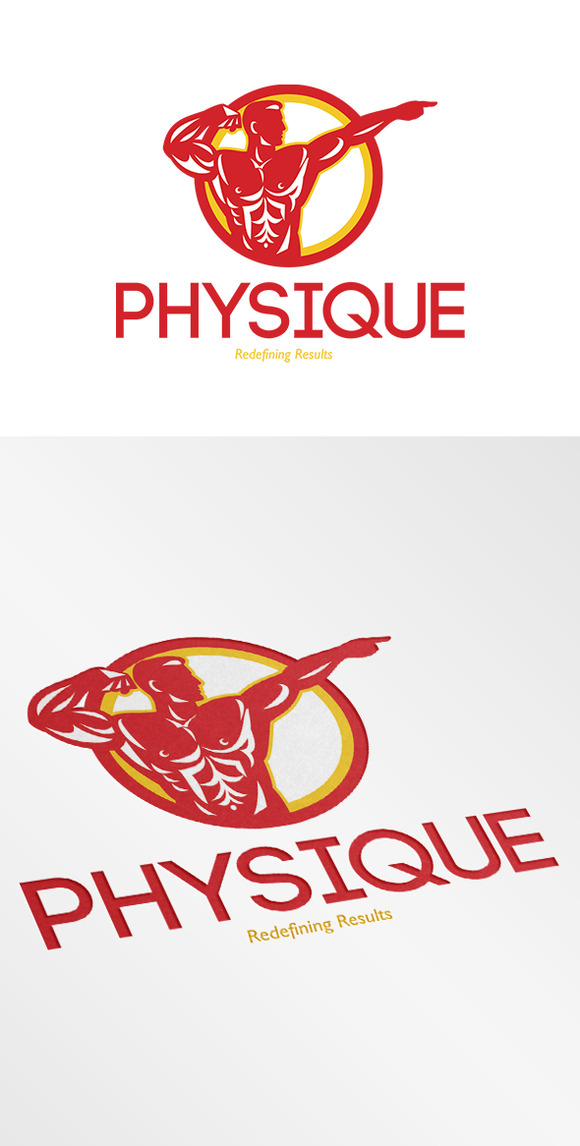 Physique Bodybuilder Logo