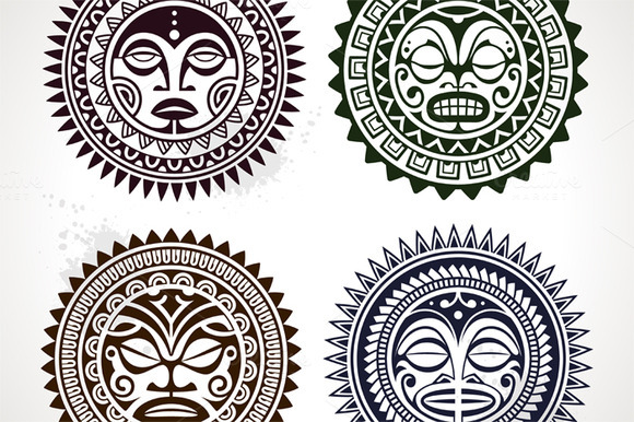 Polynesian Tattoo Masks