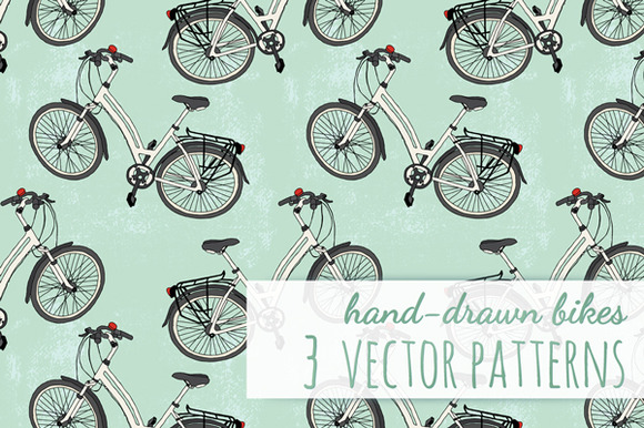 3 Vector Patterns With Bicycles