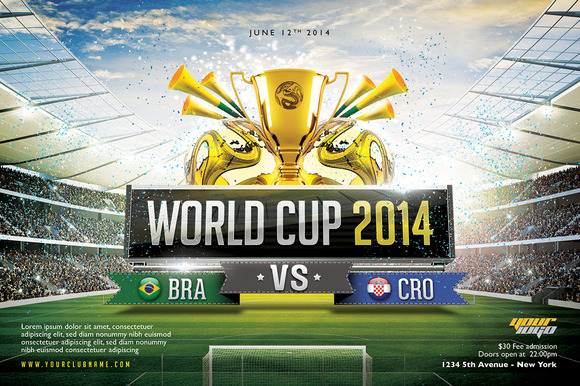 World Cup 2014 Flyer Template