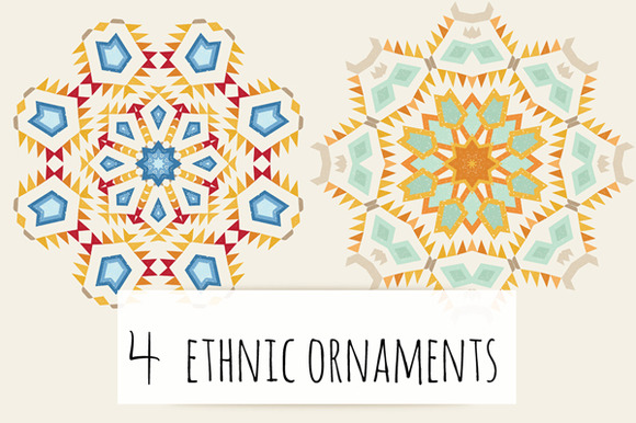 4 Ethnic Ornaments