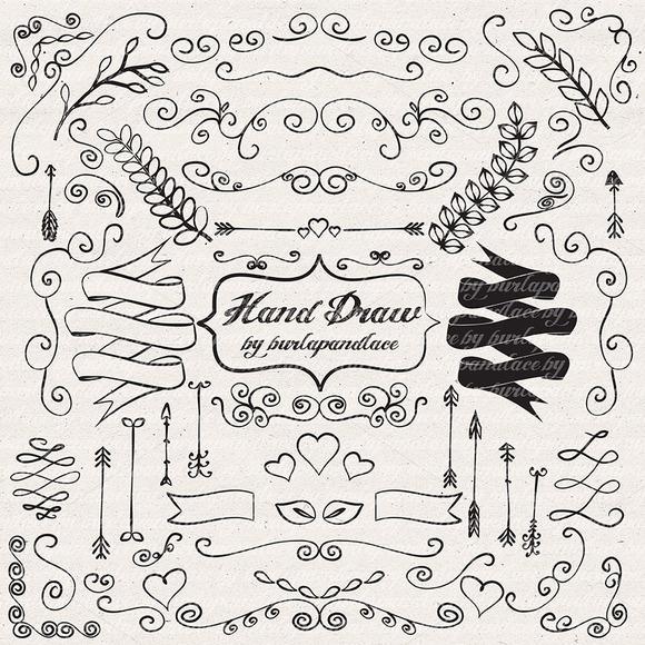 Hand Draw Ornaments