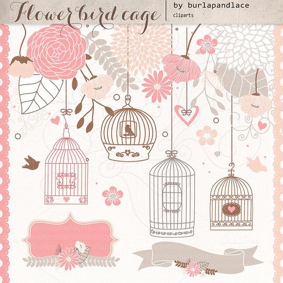 Flower Bird Cage