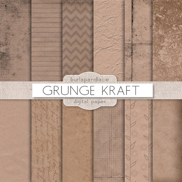 Kraft Grunge Digital Paper