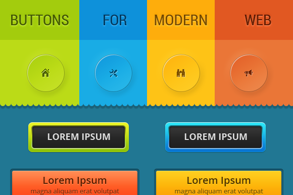 Buttons For Modern Web