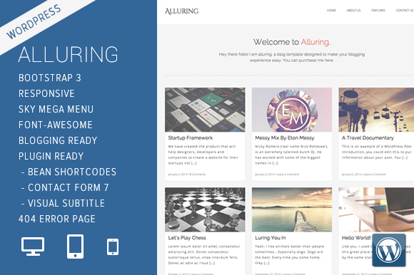 Alluring WordPress Theme