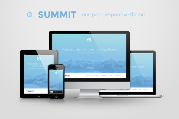 Summit One Page Responsive Theme