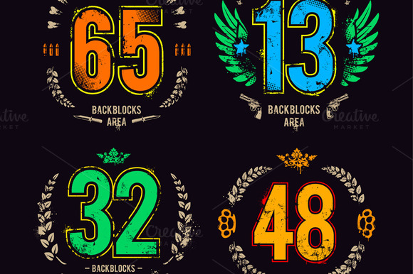 Grunge Lucky Numbers