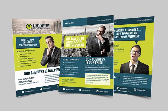 Businessman Flyer Poster