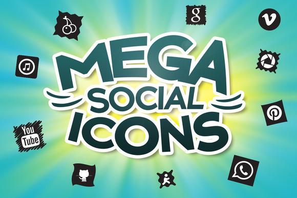 1640 Mega Social Icons