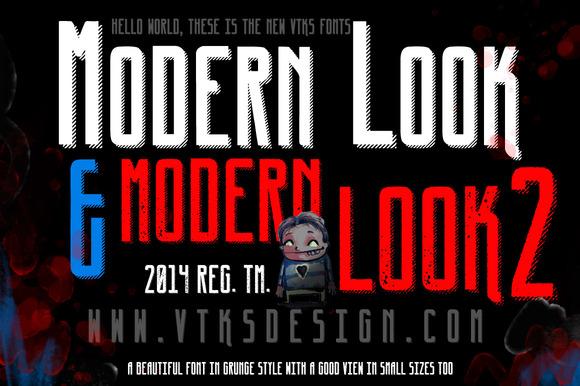 Modern Look New VTKS Font