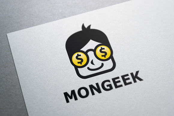 Money Geek Logo Template