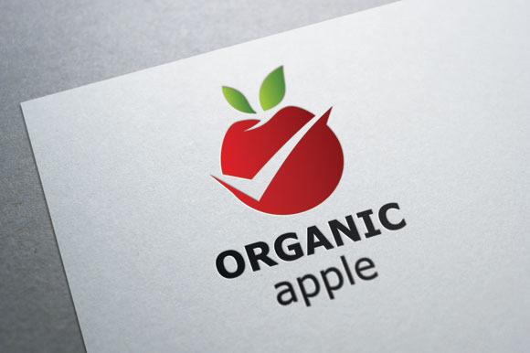 Organic Apple Logo