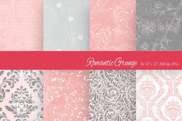 Romantic Grunge Digital Paper