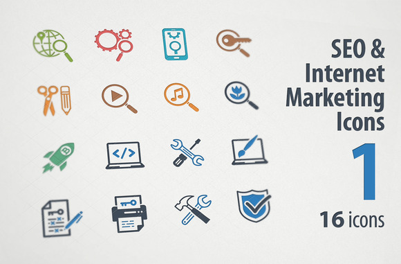 SEO Internet Marketing Icons 1