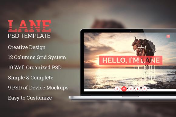 Lane Creative PSD Template