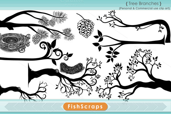 Tree Branch Silhouettes Brushes