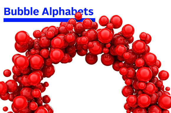 3D Bubble Alphabets