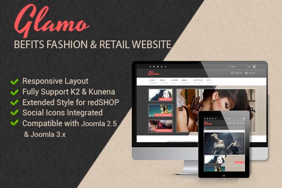 JSN Glamo Befits Retail Websites