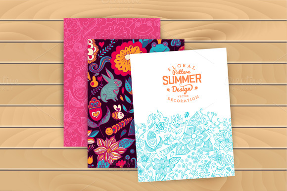 Summer Pattern And Cards