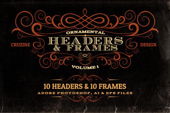 Ornamental Headers Frames V.1