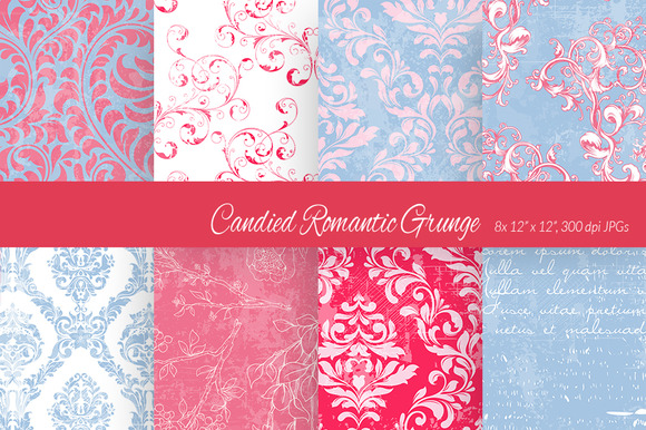Candied Romantic Grunge Paper