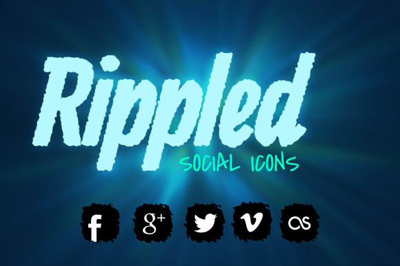 Rippled Social Icons