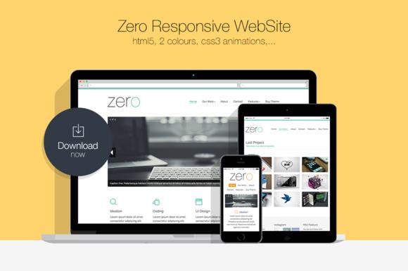 Zero Responsive HTML5 WebSite