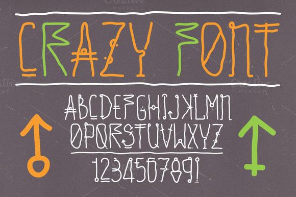 Hand Drawn Vector Crazy Font