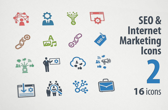 SEO Internet Marketing Icons 2