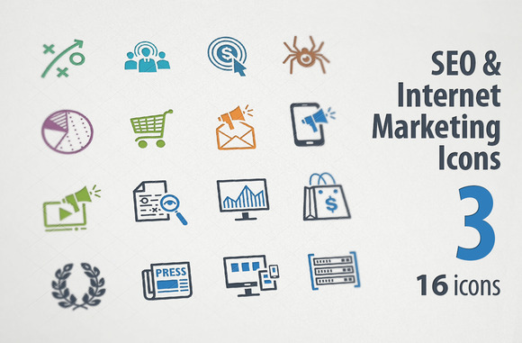 SEO Internet Marketing Icons 3