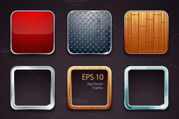 App Icons Frames Set #1