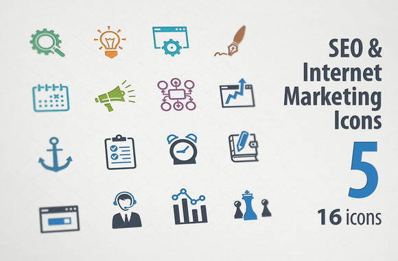 SEO Internet Marketing Icons 5