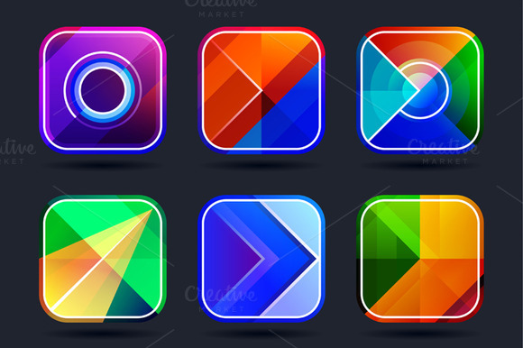 Abstract Icons Frames