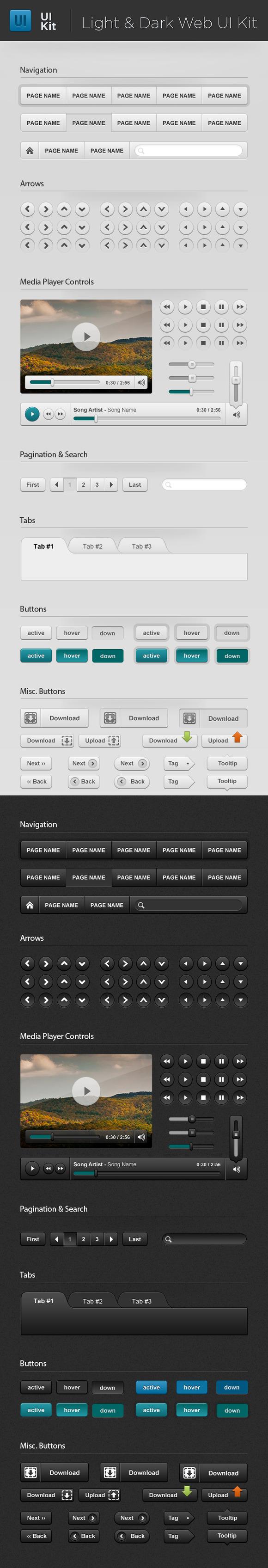 Light Dark Web UI Starter Kit