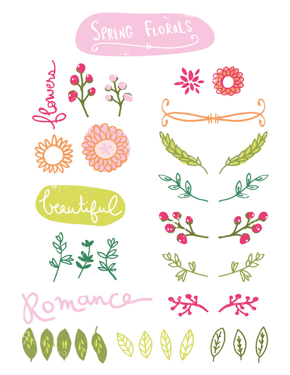 Hand-Drawn Spring Florals