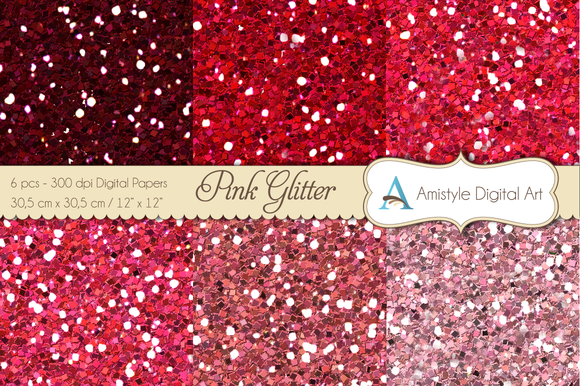 Glitter Pink-Digital Papers