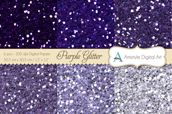 Glitter Purple-Digital Papers