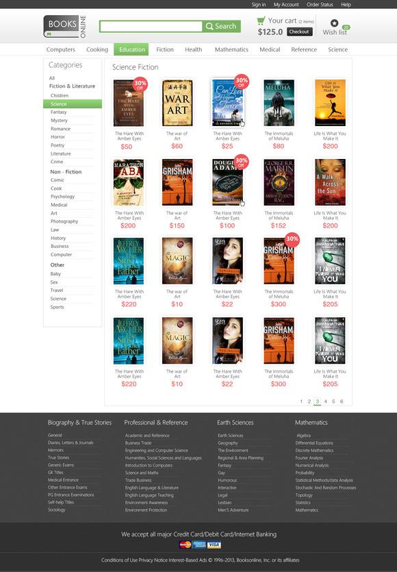 Books Online Ecommerce PSD