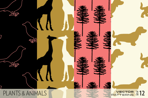 Plants And Animals Patterns