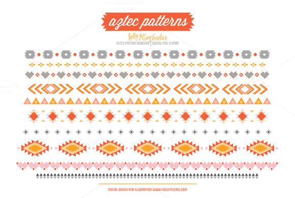 Aztec Tribal Borders PNG Clipart
