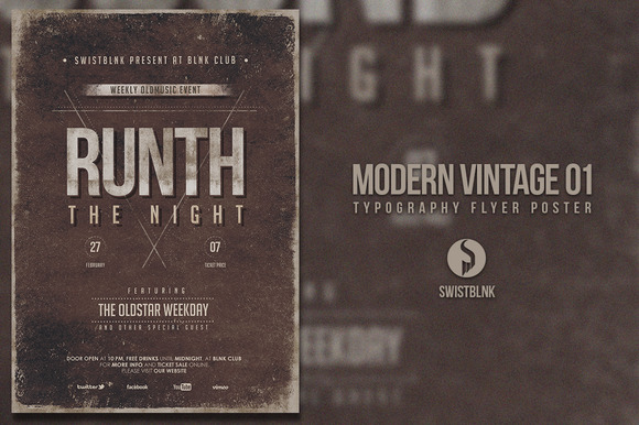 Modern Vintage Typography Flyer 01