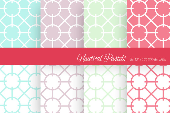 Nautical Pastels Digital Paper